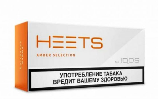IQOS Heets Amber from Parliament Russia